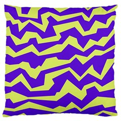 Polynoise Vibrant Royal Large Cushion Case (two Sides) by jumpercat