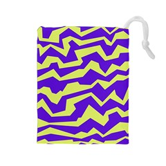 Polynoise Vibrant Royal Drawstring Pouches (large)  by jumpercat