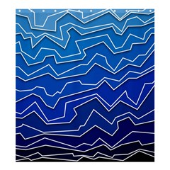 Polynoise Deep Layer Shower Curtain 66  X 72  (large)  by jumpercat