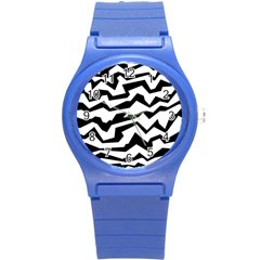 Polynoise Bw Round Plastic Sport Watch (s)