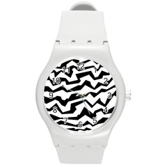 Polynoise Bw Round Plastic Sport Watch (m) by jumpercat
