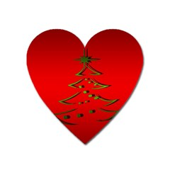 Christmas Heart Magnet by BangZart