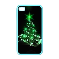 Christmas Tree Background Apple Iphone 4 Case (color) by BangZart
