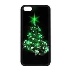 Christmas Tree Background Apple Iphone 5c Seamless Case (black) by BangZart