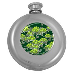 Seamless Tile Background Abstract Round Hip Flask (5 Oz) by BangZart