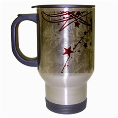 Christmas Star Snowflake Travel Mug (silver Gray) by BangZart