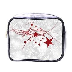 Christmas Star Snowflake Mini Toiletries Bags by BangZart