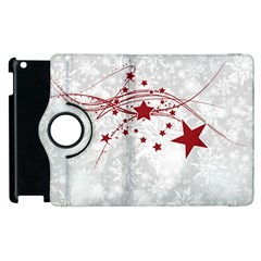 Christmas Star Snowflake Apple Ipad 2 Flip 360 Case by BangZart