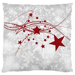 Christmas Star Snowflake Large Flano Cushion Case (two Sides) by BangZart