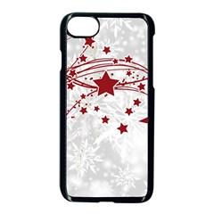 Christmas Star Snowflake Apple Iphone 8 Seamless Case (black) by BangZart