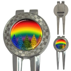 Christmas Colorful Rainbow Colors 3 In 1 Golf Divots
