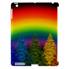 Christmas Colorful Rainbow Colors Apple Ipad 3/4 Hardshell Case (compatible With Smart Cover) by BangZart