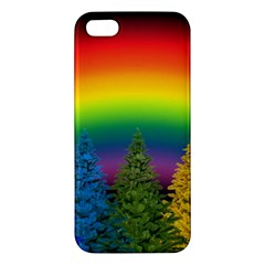 Christmas Colorful Rainbow Colors Apple Iphone 5 Premium Hardshell Case by BangZart