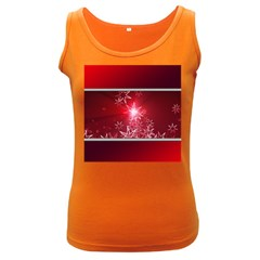 Christmas Candles Christmas Card Women s Dark Tank Top by BangZart