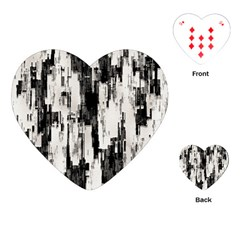 Pattern Structure Background Dirty Playing Cards (heart)