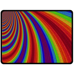 Abstract Pattern Lines Wave Double Sided Fleece Blanket (large)  by BangZart