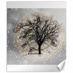 Snow Snowfall New Year S Day Canvas 8  X 10  by BangZart