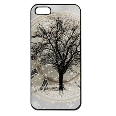 Snow Snowfall New Year S Day Apple Iphone 5 Seamless Case (black)