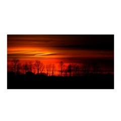 Tree Series Sun Orange Sunset Satin Wrap