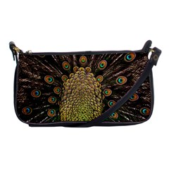 Peacock Feathers Wheel Plumage Shoulder Clutch Bags by BangZart
