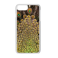 Peacock Feathers Wheel Plumage Apple Iphone 8 Plus Seamless Case (white) by BangZart