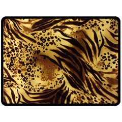 Pattern Tiger Stripes Print Animal Double Sided Fleece Blanket (large)  by BangZart