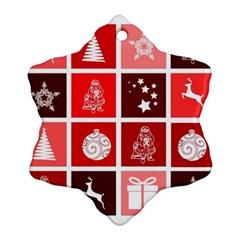 Christmas Map Innovative Modern Ornament (snowflake) by BangZart