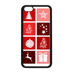 Christmas Map Innovative Modern Apple Iphone 5c Seamless Case (black) by BangZart