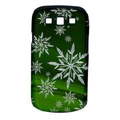 Christmas Star Ice Crystal Green Background Samsung Galaxy S Iii Classic Hardshell Case (pc+silicone) by BangZart