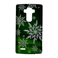Christmas Star Ice Crystal Green Background Lg G4 Hardshell Case by BangZart
