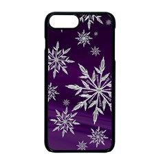 Christmas Star Ice Crystal Purple Background Apple Iphone 8 Plus Seamless Case (black) by BangZart