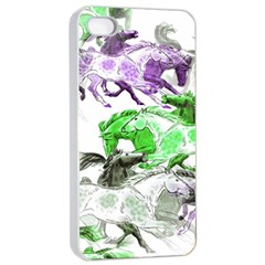 Horse Horses Animal World Green Apple Iphone 4/4s Seamless Case (white) by BangZart