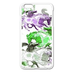 Horse Horses Animal World Green Apple Iphone 6 Plus/6s Plus Enamel White Case by BangZart