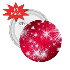 Christmas Star Advent Background 2 25  Buttons (10 Pack)  by BangZart