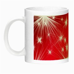 Christmas Star Advent Background Night Luminous Mugs by BangZart