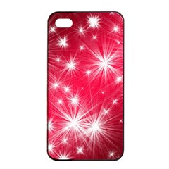 Christmas Star Advent Background Apple Iphone 4/4s Seamless Case (black) by BangZart