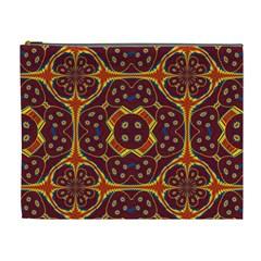 Geometric Pattern Cosmetic Bag (xl) by linceazul