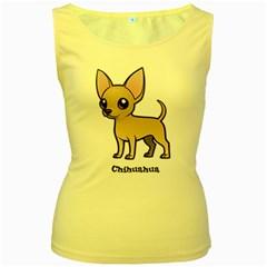 Chihuahua Women s Tank Top (yellow)