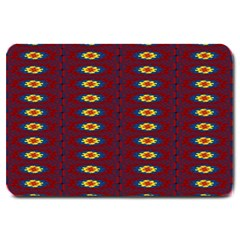 Geometric Pattern Large Doormat  by linceazul