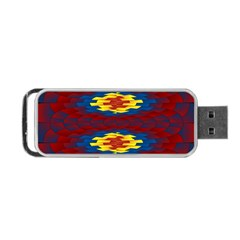 Geometric Pattern Portable Usb Flash (two Sides) by linceazul