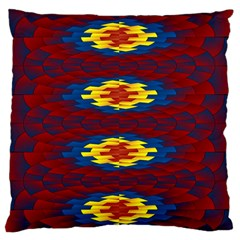 Geometric Pattern Large Flano Cushion Case (one Side) by linceazul