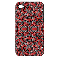 Exotic Intricate Modern Pattern Apple Iphone 4/4s Hardshell Case (pc+silicone) by dflcprints