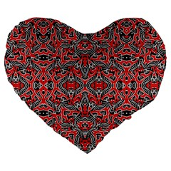 Exotic Intricate Modern Pattern Large 19  Premium Flano Heart Shape Cushions by dflcprints
