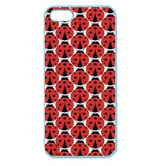 Ladybugs Pattern Apple Seamless Iphone 5 Case (color) by Cveti