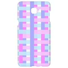 Gingham Nursery Baby Blue Pink Samsung C9 Pro Hardshell Case  by BangZart