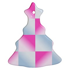 Gradient Blue Pink Geometric Ornament (christmas Tree)  by BangZart