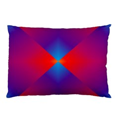 Geometric Blue Violet Red Gradient Pillow Case by BangZart