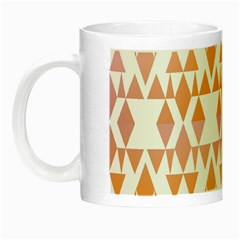 Geometric Abstract Orange Purple Night Luminous Mugs by BangZart