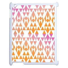 Geometric Abstract Orange Purple Apple Ipad 2 Case (white) by BangZart