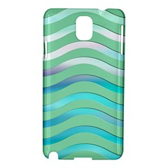 Abstract Digital Waves Background Samsung Galaxy Note 3 N9005 Hardshell Case by BangZart